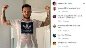 Umtiti y Bartra trolean a Rakitic en las redes