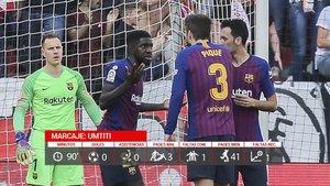 Umtiti no pudo brillar en su regreso al once titular