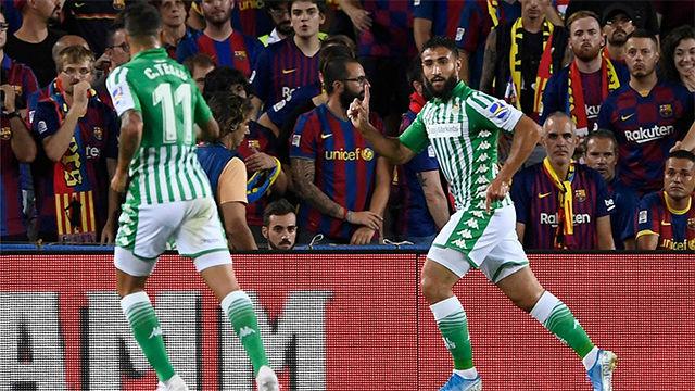 ¡VER PARA CREER! Así narró la radio el gol de Fekir para adelantar al Betis en el Camp Nou