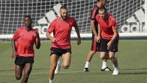 Vinicius Jr., en el entrenamiento del Real Madrid
