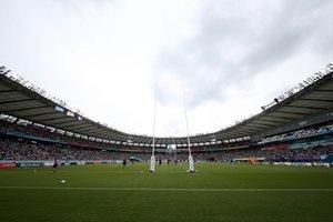 Vista del Tokyo Stadium antes del partido entre Francia y Argentina del Mundial de Rugby 2019 en Tokyo.