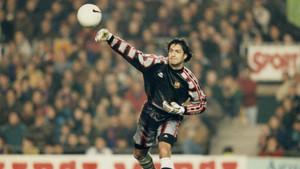 Vítor Baía, guardameta portugués que defendió el marco del FC Barcelona dos temporadas (1996-1998)
