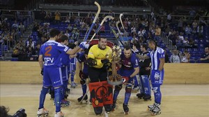 El Voltregà le hizo el pasillo al Barça campeón de Europa y de la OK Liga