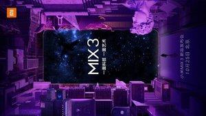 El Xiaomi Mi Mix 3 se dejará ver la semana que viene
