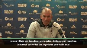 Zidane: Contamos con James y Bale
