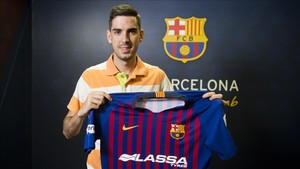 Adrián Ortega es la cuarta y última incorporación del Barça Lassa