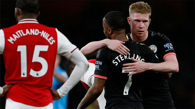 De Bruyne y Sterling condenan al Arsenal