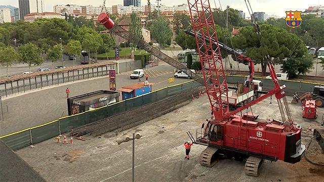 El Camp Nou se encuentra actualmente en obras