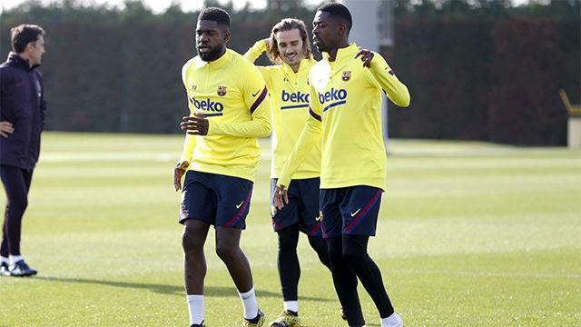 Dembélé empieza a trabajar con el grupo