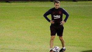 Ernesto Valverde, entrenador del Barça