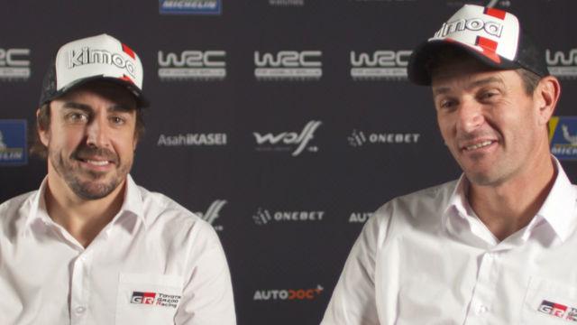 Fernando Alonso ha presentado su equipo para el Dakar