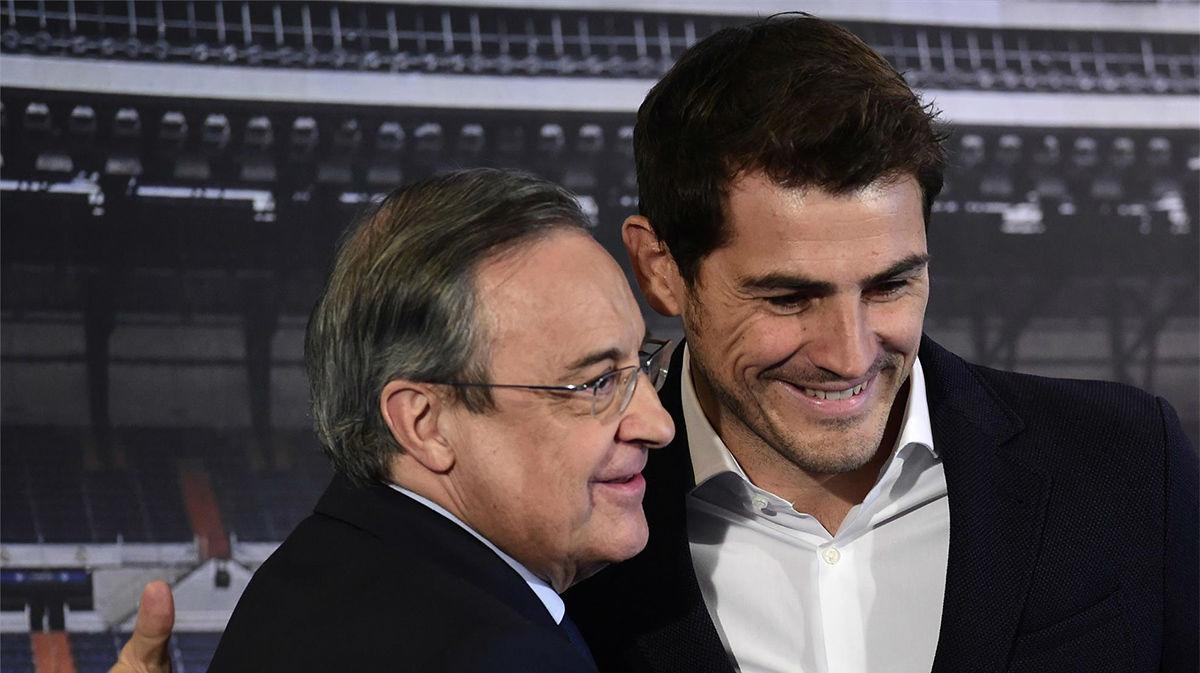Florentino Pérez rinde homenaje a Casillas