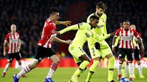 Gerard Piqué ha anotado el segundo gol del FC Barcelona ante el PSV