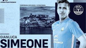 Gianluca Simeone nuevo jugador del UD Ibiza