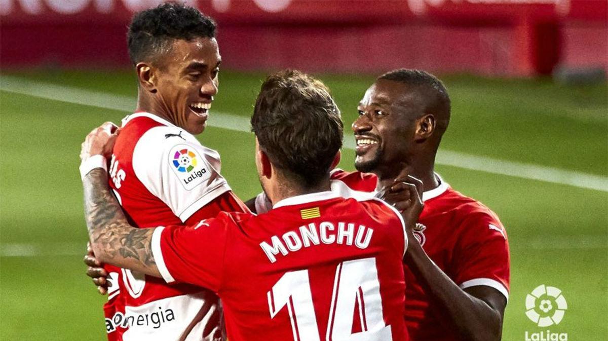 El Girona consiguió los tres puntos ante el Mirandés