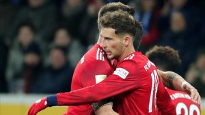 Goretzka celebrando uno de sus goles