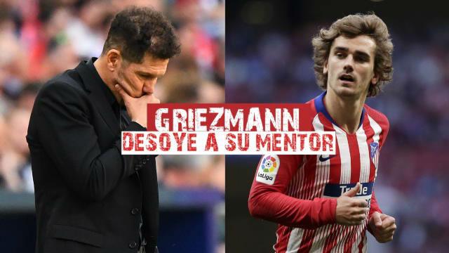 Griezmann desoye a su mentor Simeone