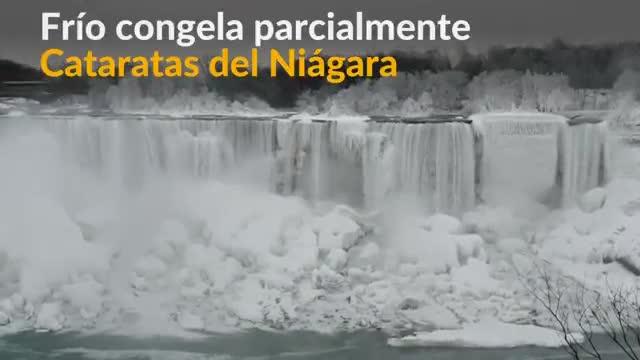Impresionante vídeo de las Cataras del Niágara congeladas