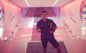 Jordi Quintillà estuvo el pasado año en el amistoso que el Barça jugó en el campo del Bayern de Munich