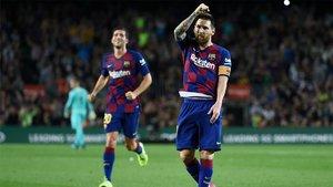 Leo Messi abre su cuenta goleadora esta temporada de falta directa (ES)