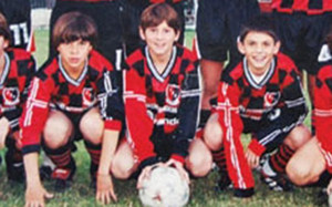 Leo Messi, en su etapa en Newells Old Boys