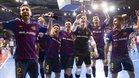 Los jugadores azulgrana quieren una nueva victoria
