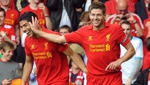 Luis Suárez y Gerrarc compartieron vestuario en el Liverpool tres años y medio