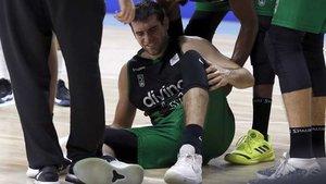 Mathias se lesionó en el partido ante el Madrid