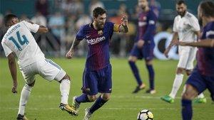 Messi, en el duelo ante el Madrid en Miami