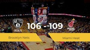 Miami Heat se lleva la victoria frente a Brooklyn Nets por 106-109