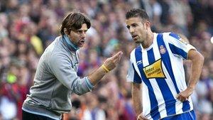 Pochettino y Luis García coincidieron en el Espanyol