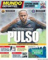 Portada de Mundo Deportivo del 14 de agosto