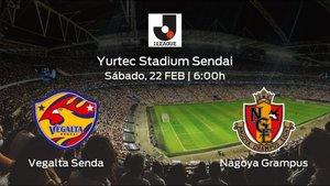 Previa del encuentro: el Vegalta Sendai inicia Liga Japonesa J1 recibiendo al Nagoya Grampus