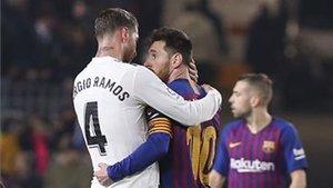 Ramos y Messi, en el clásico