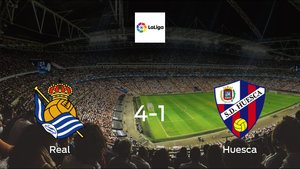 Real stunt Huesca with a 4-1 at San Sebastian