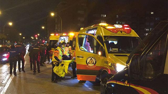 Un seguidor del Atlético de Madrid, herido grave