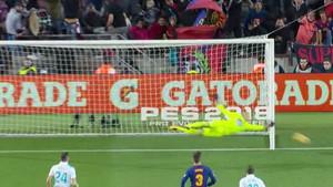 El tercer palo de Leo Messi