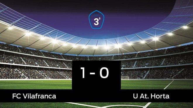 Tres puntos para el equipo local: Vilafranca 1-0 At. Horta