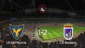 El UCAM Murcia pierde ante el Badajoz por 1-2