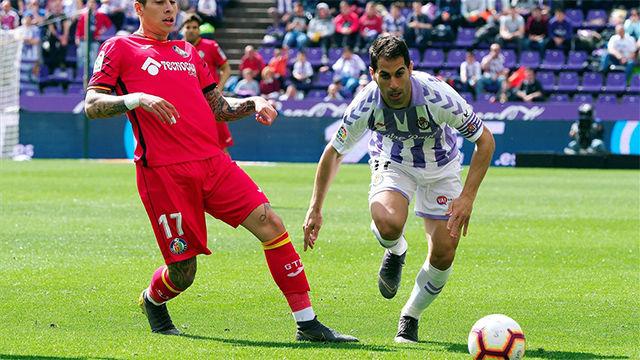 Valladolid y Getafe se reparten los puntos un partido vibrante