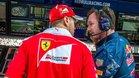 Vettel, con Horner. Ambos mantienen una buena relación