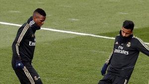 Vinicius y Rodrygo, en un entrenamiento