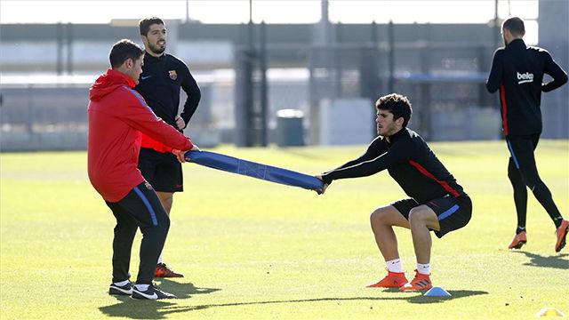 Aleñá se ha convertido en un habitual en los entrenamientos del primer equipo