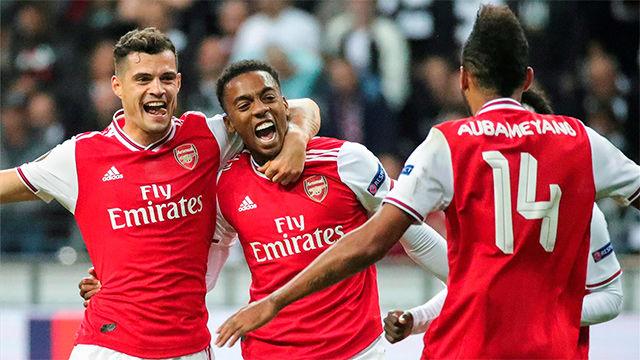 El Arsenal golea al Eintracht