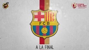 Así anunció la Federación la clasificación del Barcelona para la final