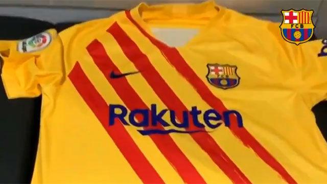 El Barça estrenará su equipación de la senyera en el Wanda