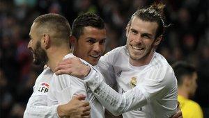 Benzema, Bale y Cristiano Ronaldo formaban la BBC