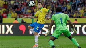 Coutinho con Brasil frente a Honduras