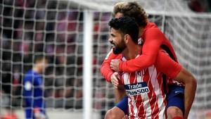Cuando toda era felicidad en el Atlético. Después llegó el Barça