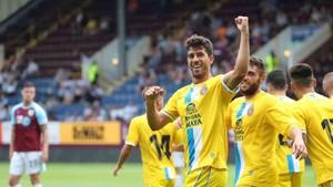 Didac Vilà celebra el primer gol del Espanyol